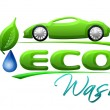 Eco Autowassen symbool — Stockfoto