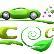 Eco car symbol — Stock Photo