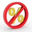 No percent icon — Stock Photo #11344386
