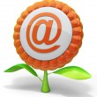 Stock Photo: Flower e-mail icon