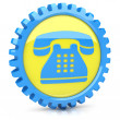 phone icon — Stock Photo