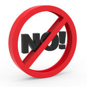 """Abstract icon with """"No!"""" — Stock Photo"""