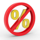 No percent icon — Stock Photo