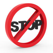 No stop icon — Stock Photo