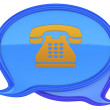 Speech bubbles with phone icon — Stock Photo #11368065