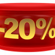 Stock Photo: Sale sticker -20%