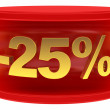Sale sticker -25% — Stock fotografie