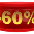 Sale sticker -60% — Stock Photo