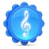 Treble clef icon — Stock Photo