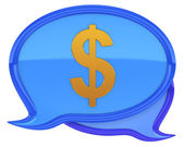 Speech bubbles with dollar icon — Stock Photo