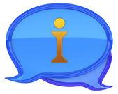Tekstballonnen met info pictogram — Stockfoto