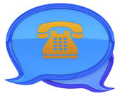 Speech bubbles with phone icon — Stock Photo