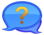 Speech bubbles with question mark icon — Stock Photo