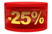 Sale sticker -25% — Stock Photo
