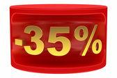 Sale sticker -35% — Stock Photo