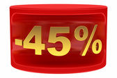 Sale sticker -45% — Stock Photo