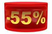 Sale sticker -55% — Stock Photo