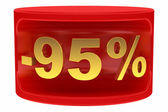 Sale sticker -95% — Stock Photo