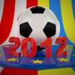 Football Euro 2012 — Stock Photo