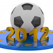 Football Euro 2012. Abstract concept. — Stockfoto #11395262