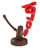 Auction gavel with word SOLD — Stock Photo