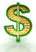 Znak dolar. koncept digitální peníze. — Stock fotografie