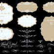 Set of ornate vintage vector frames and design elements - Stock Vector