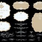 Набор богато Винтаж Векторный рам и элементы дизайна — Cтоковый вектор #11188851