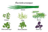 Aromatic herbs poster french — ストックベクタ