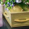 Stock Photo: Coffin in morgue