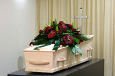 Coffin in morgue — Stock fotografie