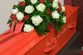 Coffin in morgue — Foto Stock