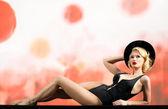 Bionda in costume da bagno — Foto Stock