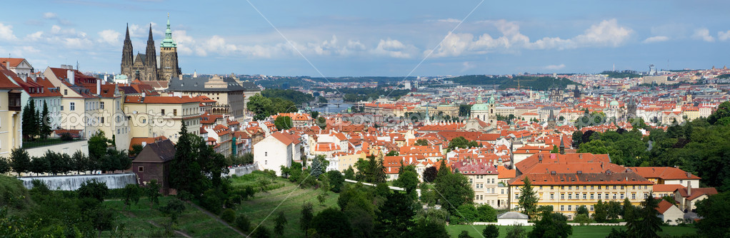 Panorama of Prague in the Czech Republic  Stock Photo #12372447