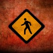 Stock Photo: Grungy Road Sign Glossy