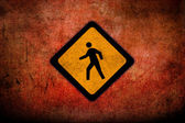 Grungy Road Sign Glossy — Stock Photo