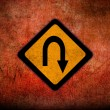 Grungy Road Sign Glossy — 图库照片