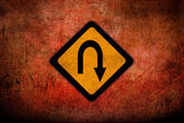 Grungy Road Sign Glossy — Foto Stock