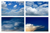 Pattern of clouds in the sky. — 图库照片