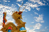 Dragon on the sky in the background. — Stock Photo