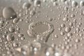 Kapky vody na kovové povrchy. — Stock fotografie