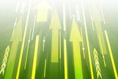 Fondo verde abstracto con flechas. — Foto de Stock