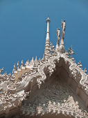 Top of white stupa — Stock Photo