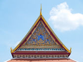 Temple gable roof — Stock Photo