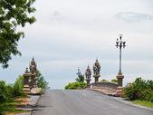 Small Bridge and balustrade lamp — Stock Photo