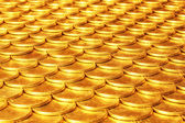 Set of coins from yellow metal — Stock Photo