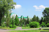 Park in the center of Omsk — Stock Photo