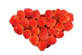 Gâteau décoré de fraises — Photo