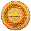 Cover from a basket weaved from algas — Stock Photo