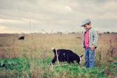 Small herdboy — Stock Photo